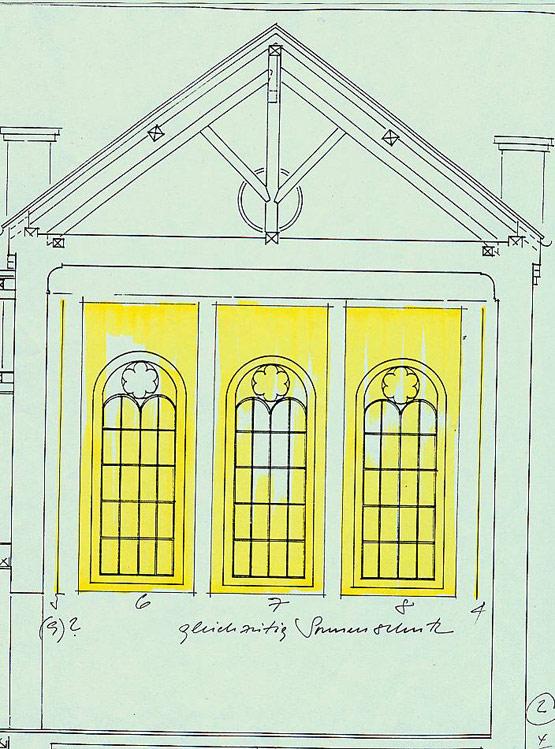 Bild 6 Vorhänge als Absorber in einem ehemaligen Synagogenraum