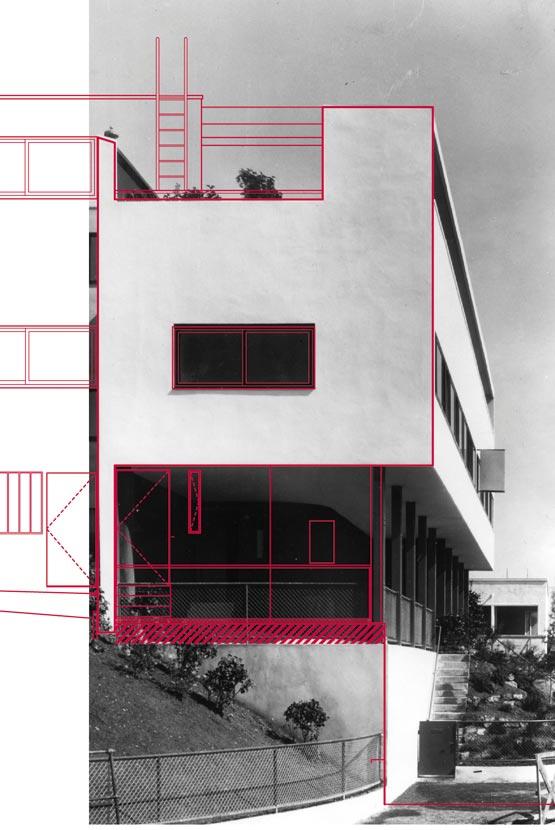 Abbildung 2 Stuttgart, Weißenhofsiedlung, Doppelhaus Le Corbusier / Pierre Jeanneret. Verlustpläne.