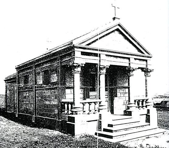 Abb. 2 Friedhofskapelle aus Eisenbetonfertigteilen in Jena-Göschwitz, erbaut 1906