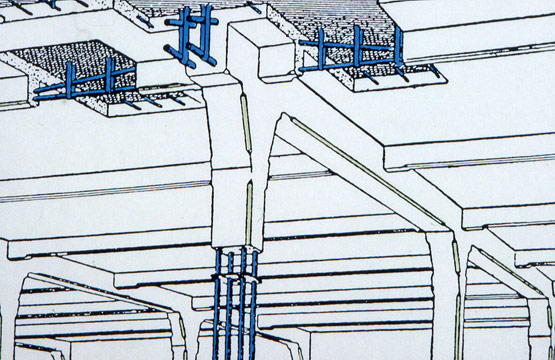 Abb. 1 Eisenbetonkonstruktion von François Hennebique