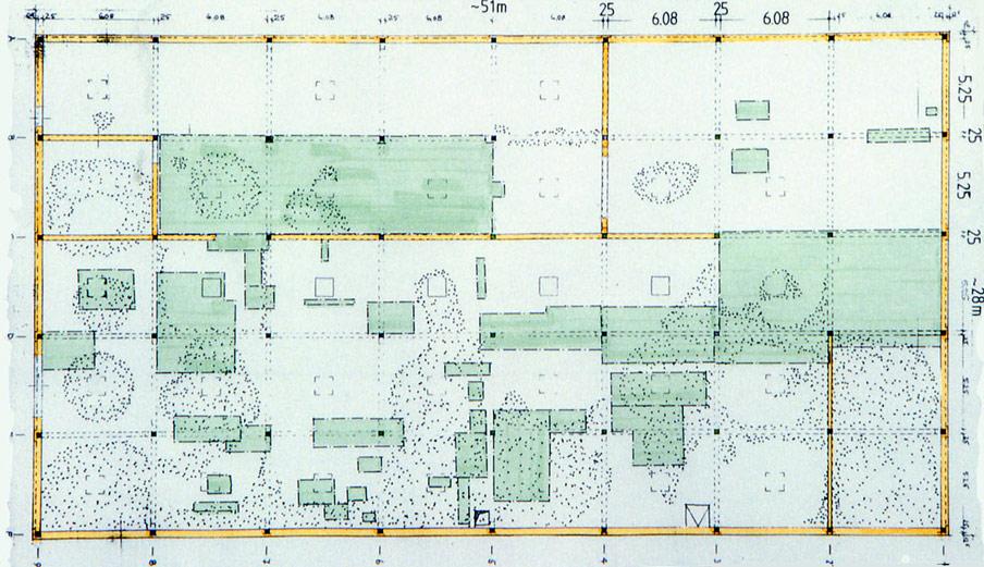 Abb. 39 Schadensaufnahme als Grundlage für die Reparatur des Hallenbodens