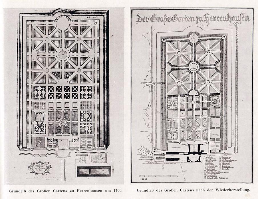"""Abb. 2 Schöpferische Denkmalpflege: Hermann Wernickes """"Verbesserungen"""" im Grossen Garten in Hannover Herrenhausen der 1930er Jahre"""
